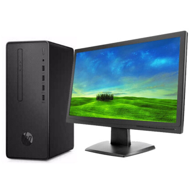 惠普(HP)Desktop Pro G2 MT (I3-8100/4G/1TB/无光驱) 台式计算机(23.8英寸显示器)